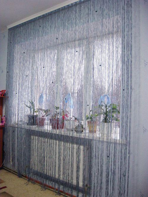 Дизайн нитяных штор