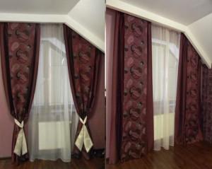 Выбираем шторы на мансардное окно