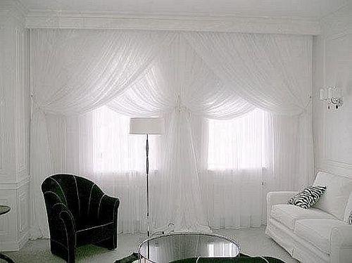 шторы белого цвета