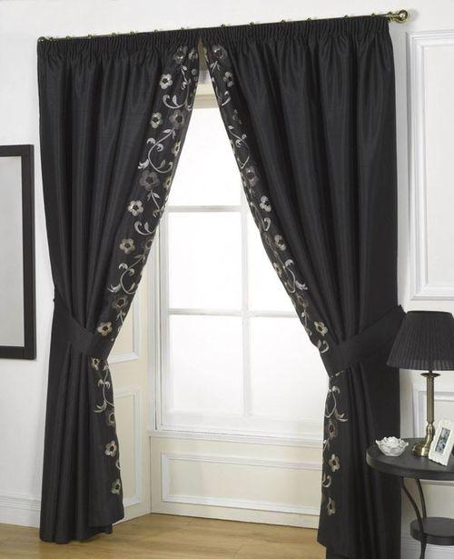 шторы черного цвета