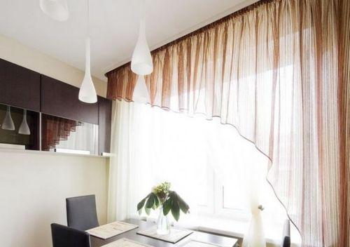 легкая кухонная штора
