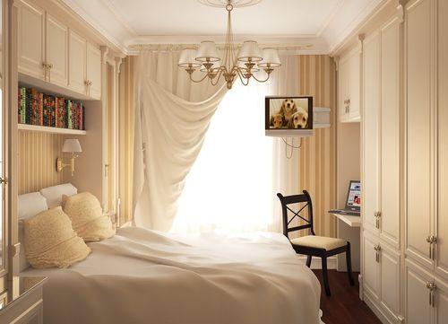 шторы в маленькой спальне