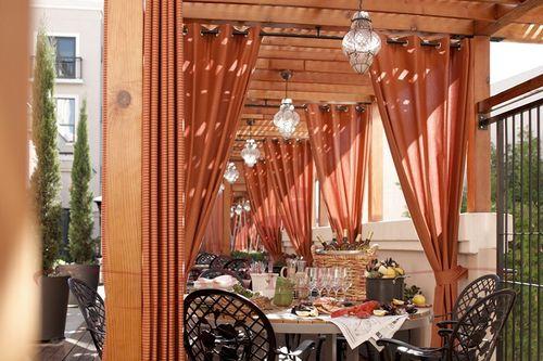 Шторы для открытого кафе