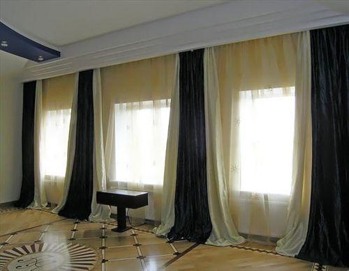 Шторы на большое окно