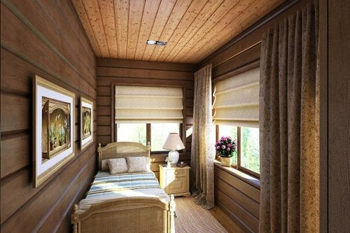 шторы на маленькие окна в деревенском доме фото