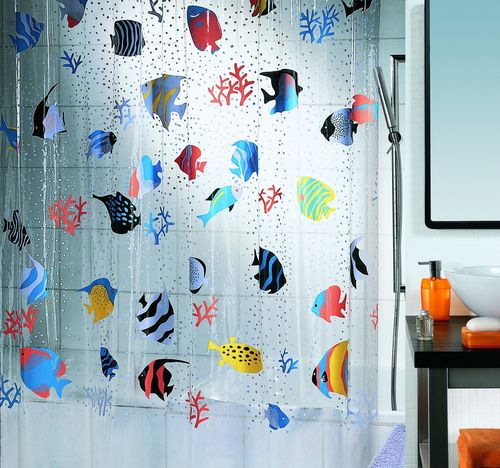 Красивые шторы в ванную комнату