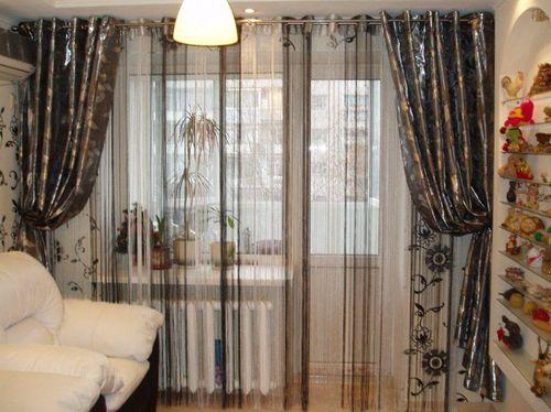 штора в гостиной