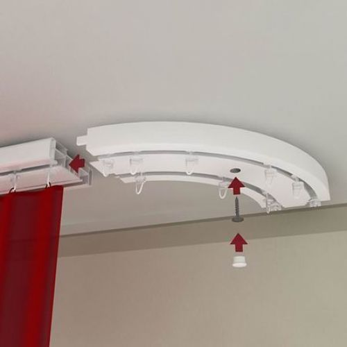 Вешаем карниз на натяжной потолок