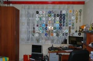 Делаем шторы из дисков