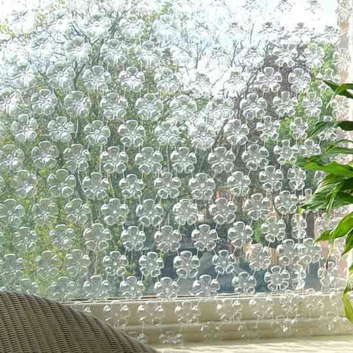 Делаем шторы из бутылок