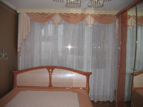 Ламбрекены для спальни: фото варианты для шитья