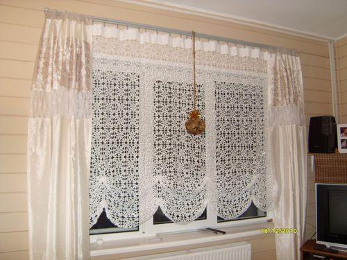 Вязанные шторы крючком со схемами