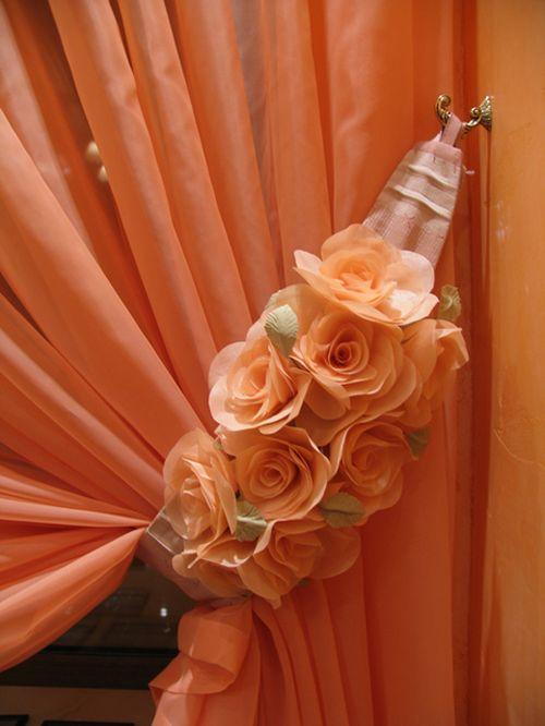 Цветы для штор своими руками