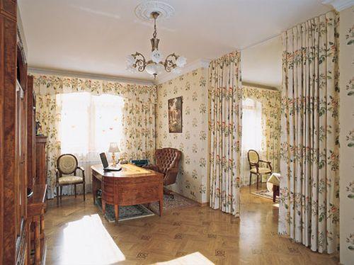 Зонирование комнат шторами