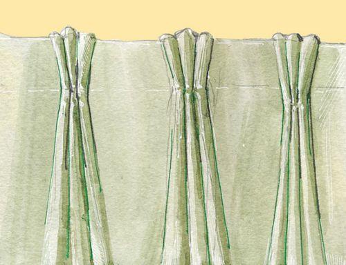 Как сделать складки на шторах 141