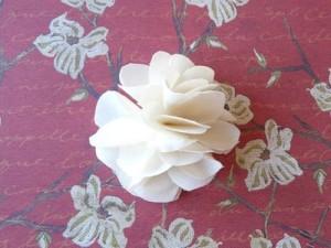 Делаем цветок из тюли