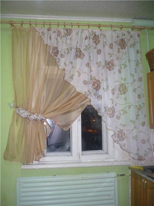 Шторы и тюль на кухню своими руками образцы фото штор