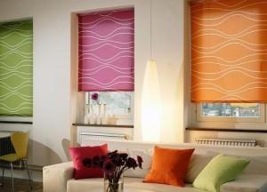 Выбираем цветные шторы