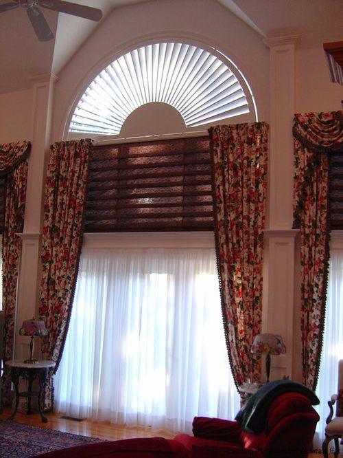 Шторы на полукруглые окна