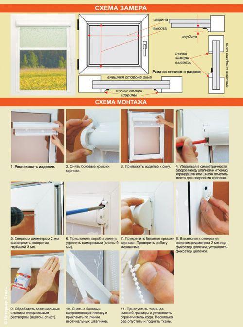 Как самостоятельно произвести замер штор на окна