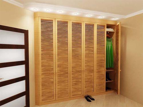 Деревянные и пластиковые жалюзийные дверцы для шкафа